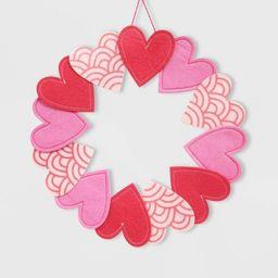 Valentine's Felt Heart Wreath - Spritz™ | Target