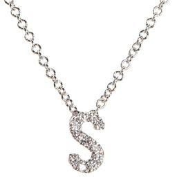 18k Gold Pavé Diamond Initial Pendant Necklace   Nordstrom