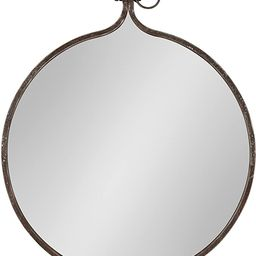 "Kate and Laurel Yitro Round Industrial Rustic Metal Framed Wall Mirror, 23.5"" Diameter, Bronze | Amazon (US)"