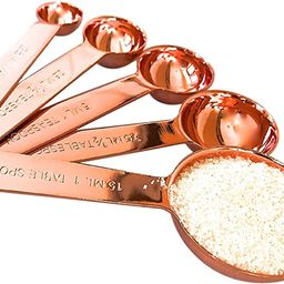Copper Measuring Spoons For Your Rustic & Farmhouse Kitchen Decor, Superior Strength & Beautiful ... | Amazon (US)