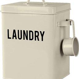 LA JOLIE MUSE Laundry Detergent Powder Storage Tin Box, 4 Free Mesh Bags, Farmhouse Laundry Room ... | Amazon (US)