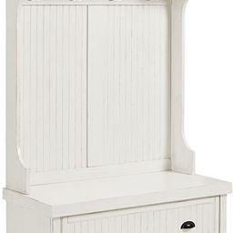 Crosley Furniture Seaside Hall Tree - Distressed White | Amazon (US)