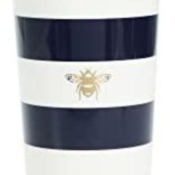 Kate Spade New York Insulated Thermal Travel Mug Tumbler, 16 Ounces, Navy Stripe (Bee) | Amazon (US)
