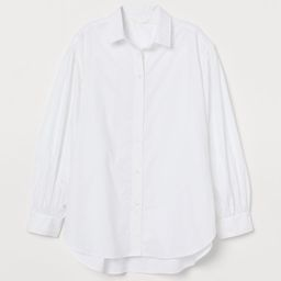 Wide-cut Balloon-sleeved Shirt | H&M (US)