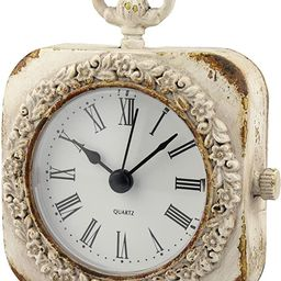 Stonebriar Cottage Small Weathered White Tabletop Clock | Amazon (US)