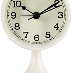 Danse Jupe Alarm Clock Round Vintage Non Ticking Battery Operated for Bedroom,Off-White   Amazon (US)