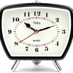 Lily's Home Vintage Retro Inspired Analog Alarm Clock, Looks Like Miniature Television Set with S...   Amazon (US)