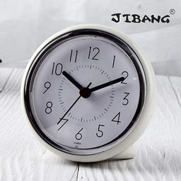 JIBANG Bathroom Wall Clock, Waterproof Suction Cup Silent Non Ticking Clocks with Stand for Desk ...   Amazon (US)
