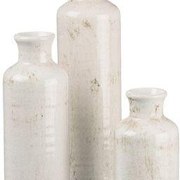 Sullivans Small White Vase Set (Ceramic), Rustic Home Decor, Distressed White, Set of 3 Vases (CM...   Amazon (US)