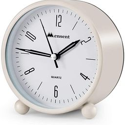 Alarm Clock.Mensent 4 inch Round Silent Analog Alarm Clock Non Ticking,with Night Light, Battery ...   Amazon (US)