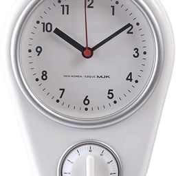 RuiyiF Silent Wall Clock with Timer for Kitchen Bedroom Small Clock Battery Operated Retro   Amazon (US)