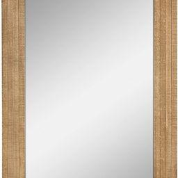 Stonebriar Rectangle Natural Wood Hanging Wall Mirror, Medium, Brown   Amazon (US)