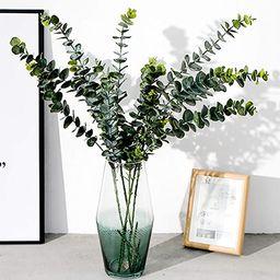 Yesier 3 Pcs Artificial Silver Dollar Silk Eucalyptus Leaf Spray Fake Greenery for Garden Wedding... | Amazon (US)