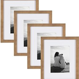 DesignOvation Gallery Wood Photo Frame Set for Customizable Wall Display, 8x10 matted to 5x7, Rus... | Amazon (US)