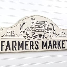 Personalized Farmers Market Modern Farmhouse Style Wood Sign Wall Art - 9 Colors - 2 Sizes | Amazon (US)