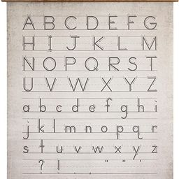 Creative Co-Op Alphabet & Numbers Wall Décor | Amazon (US)