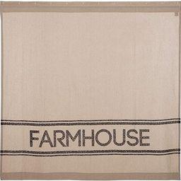 VHC Brands Farmhouse Bath Sawyer Mill Rod Pocket Cotton Button Holes Hooks Stenciled Chambray Tex... | Amazon (US)