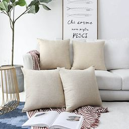 Home Brilliant Decorative Lined Linen Square Throw Pillow Cases Protectors Cushion Covers for Sof... | Amazon (US)