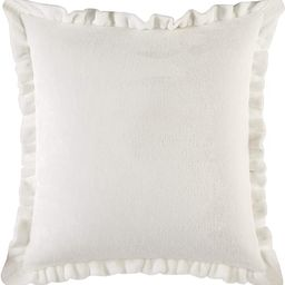 Rachel Ashwell Shabby Chic Emma Solid Royal Plush Faux Velvet Farmhouse Decorative Throw Pillow, ... | Amazon (US)