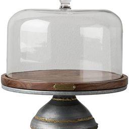 Magnolia Hearth Hand Cake Stand Glass Covered Wooden Farmhouse Kitchen Table Decor   Amazon (US)