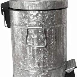 Autumn Alley Galvanized Pedal Waste Bin   Small 5L, 1.3 Gallon Trash Can   Adds Farmhouse Warmth ...   Amazon (US)
