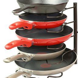 SimpleHouseware Kitchen Cabinet Pantry Pan and Pot Lid Organizer Rack Holder, Bronze   Amazon (US)