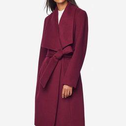 Melange Twill Wrap Coat | Cole Haan - Dynamic