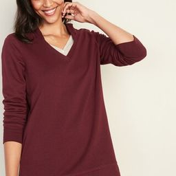 Boyfriend French Terry Side-Zip Tunic Hoodie for Women   Old Navy (US)