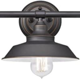 Westinghouse Lighting 6343400 Iron Hill Three-Light Indoor Wall Fixture, Oil Rubbed Bronze Finish... | Amazon (US)