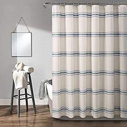 "Lush Decor, Blue Farmhouse Stripe Shower Curtain, 72"" x 72"" | Amazon (US)"
