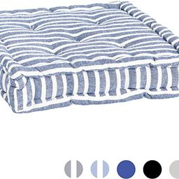 Nicola Spring Square Padded French Mattress Dining Chair Cushion Seat Pad - Blue Stripe | Amazon (US)