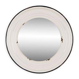 Glitzhome Octagonal 23.23-Inch x 34.25-Inch Wall Mirror in Washed White | Bed Bath & Beyond