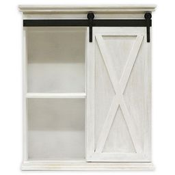 FARMHOUSE SLIDING DOOR SHELF UNIT 20.13X23.63 | Bed Bath & Beyond