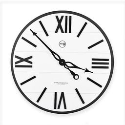 Sterling & Noble™ Farmhouse Collection Modern Urban Wall Clock in White | Bed Bath & Beyond