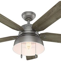 Hunter Indoor / Outdoor Ceiling Fan with light and pull chain control - Mill Valley 52 inch, Matt... | Amazon (US)