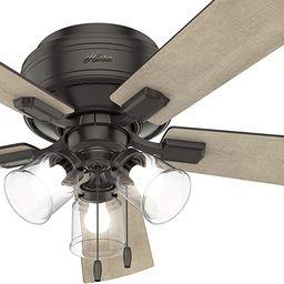 Hunter Fan 52 inch Noble Bronze Finish Ceiling Fan with LED Light Kit, 5 Blade (Renewed) | Amazon (US)