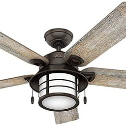 Hunter Indoor / Outdoor Ceiling Fan with light and pull chain control - Key Biscayne 54 inch, Ony... | Amazon (US)