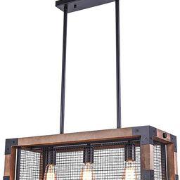 OYIPRO Industrial Kitchen Island Light, 3 Lights Chandelier Farmhouse Hanging Fixture Retro Ceili... | Amazon (US)