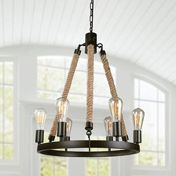 LNC Farmhouse Chandeliers for Dining Rooms Rustic Foyer Light Fixture, A02993 | Amazon (US)
