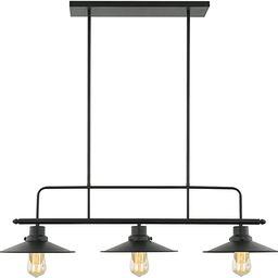 Light Society Margaux 3-Light Kitchen Island Pendant, Matte Black, Vintage Modern Industrial Chan... | Amazon (US)
