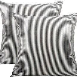Shamrockers Farmhouse Striped Throw Pillow Cover Decorative Cotton Linen Ticking Stripe Cushion P...   Amazon (US)