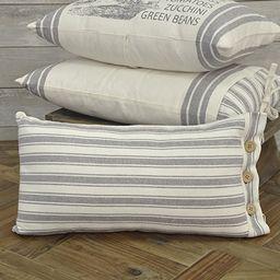 "Piper Classics Market Place Gray Ticking Stripe Pillow Cover, 12"" x 20"", Farmhouse Décor Grey & ...   Amazon (US)"