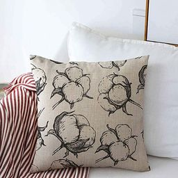 Throw Pillows Cover 16 x 16 Inches Boll Coton Style Natural Engraving Pattern Vintage Drawing Flo...   Amazon (US)