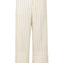 Ecru Striped woven wide-leg pants   Sale up to 70% off   THE OUTNET   J.W.ANDERSON   THE OUTNET   The Outnet (UK and Europe)