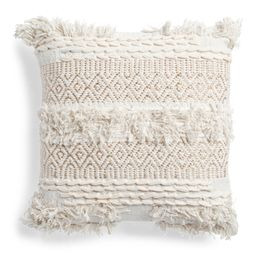 Made In India 20x20 Jersey Loop Pillow   TJ Maxx