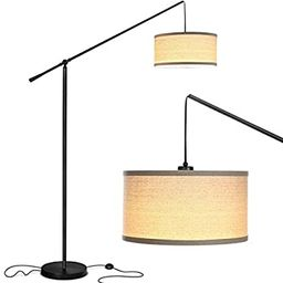 Brightech Hudson 2 - Contemporary Arc Floor Lamp Stands Up Over the Couch From Behind - Hanging P... | Amazon (US)