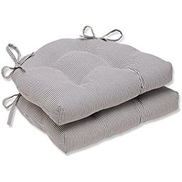 Pillow Perfect Oxford Charcoal Reversible Chair Pad (Set of 2)   Amazon (US)