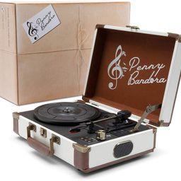 Penny Bandora Portable Vinyl Record Player with Speakers & Bluetooth - Wireless - Retro Vintage S...   Amazon (US)