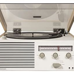 Crosley Switch II Belt-Drive Turntable with Bluetooth, Am/FM Radio, Aux-in, and Speakers   Amazon (US)