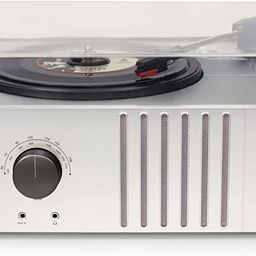 Crosley CR6017A-MA Player Turntable with AM/FM Radio and Aux-In, Mahogany   Amazon (US)